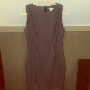 H&M grey sleeveless sheath dress, size 10